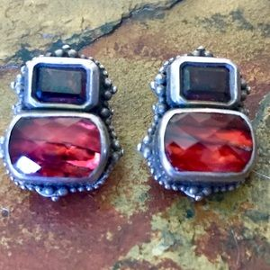 Steven Dweck Garnet Quartz Earrings